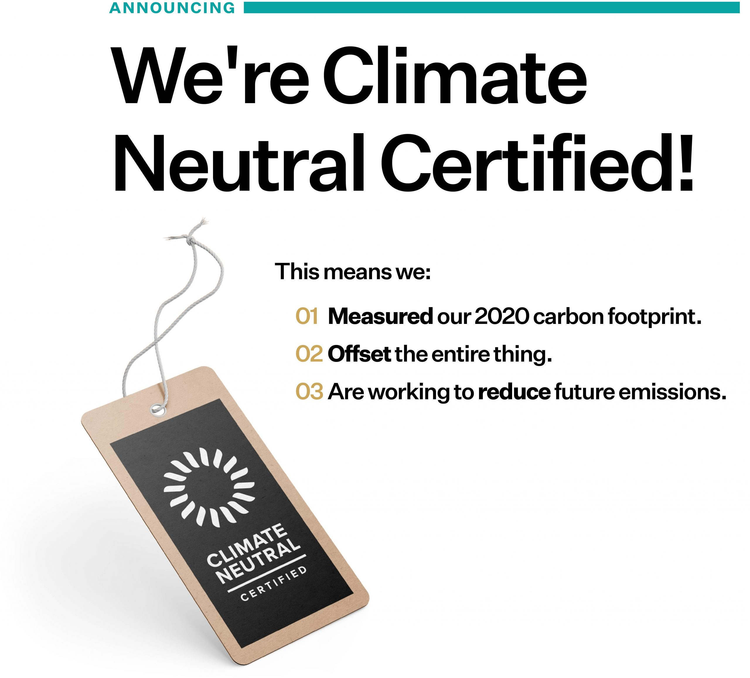 Climate Neutral Certified Steps